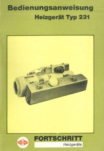Bedienungsanleitung Typ 231 (1987)
