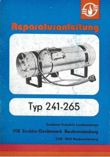 Sirokko 241-265 Reparaturanleitung