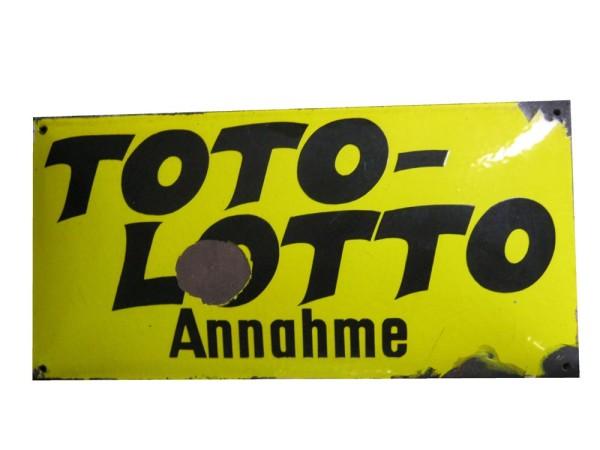 """""""Toto Lotto Annahme"""" Emaille Schild"""