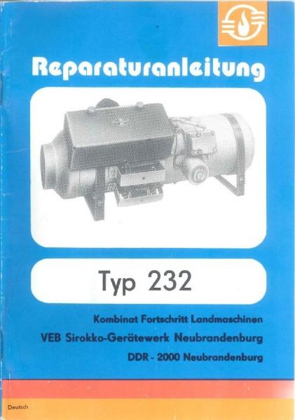 Reparaturanleitung Sirokko 232